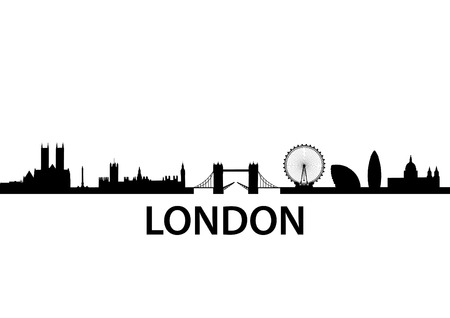 panoramic sky: detailed vector skyline of London, UK