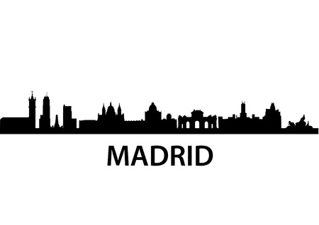 detailed vector skyline of Madrid Vector