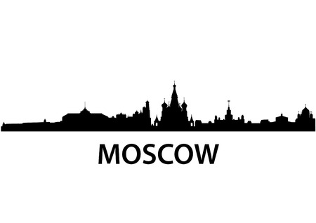 detailed vector skyline of Moscow Vector