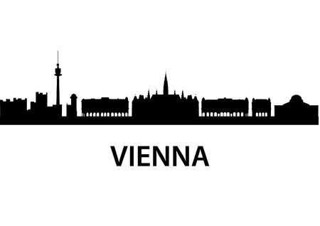 detailed vector skyline of Vienna