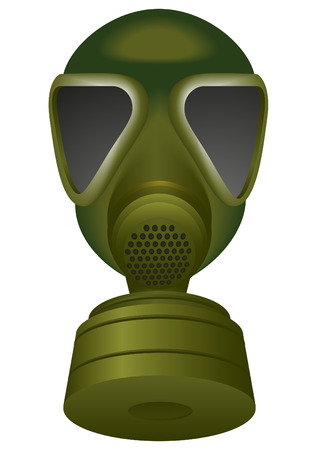 biological warfare: a gas mask