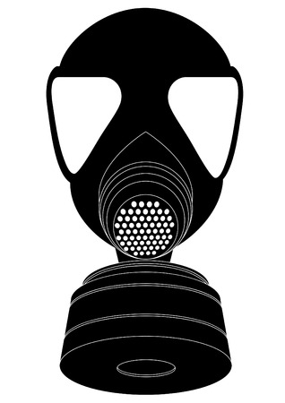army helmet: detailed illustration of a respirator Illustration