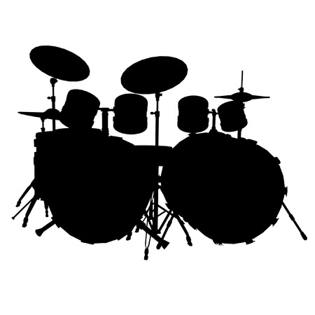 detailed vector illustration of a  drum set Vector
