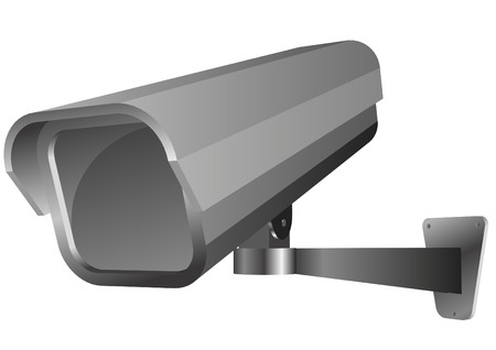 video wall: detailed vector illustration of a security camera