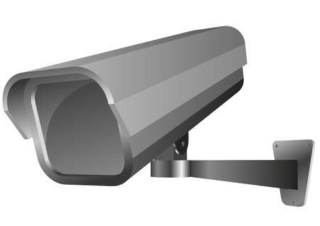 cam�ra surveillance: illustration vectorielle d�taill�e d'une cam�ra de s�curit�