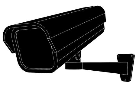 monitoreo: ilustraci�n vectorial de una c�mara de seguridad  Vectores
