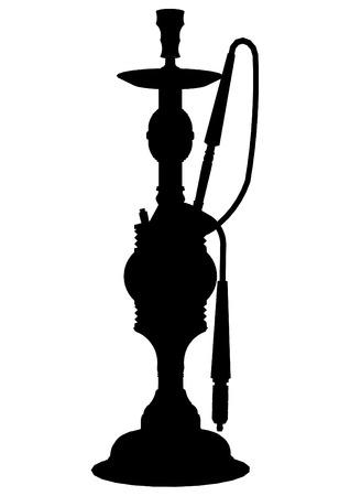 inhalacion: ilustraci�n vectorial detallada de un shishanarguile  Vectores