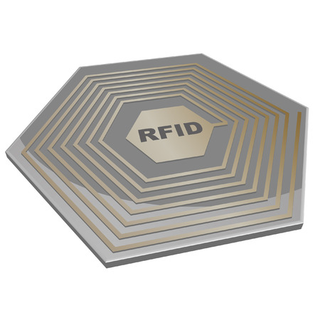 rfid: vector illustration of a rfid microchip
