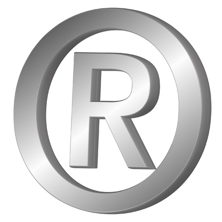 trademark: 3d vector illustration of the registered trademark symbol
