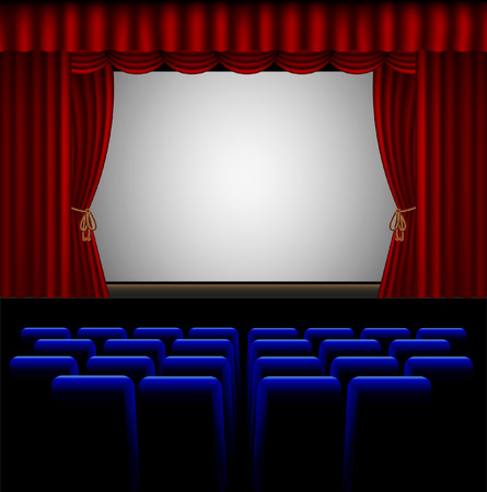 stage projector: vector illustration of a cinema