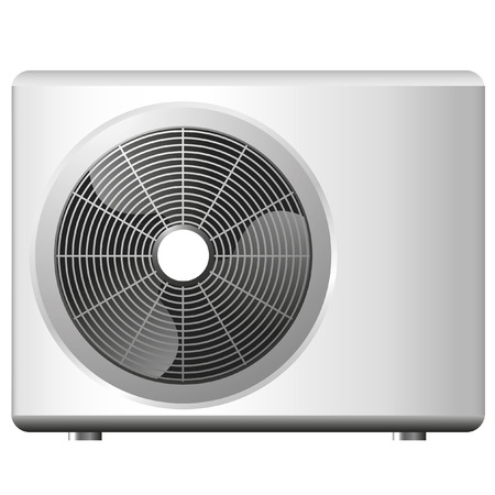 electric fan: illustration of an air conditioning system Illustration