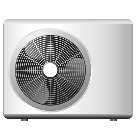 aire acondicionado: Ilustraci�n de un sistema de aire acondicionado