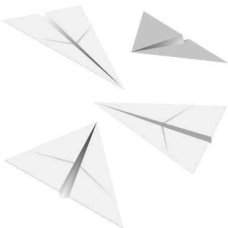 four paper airplanes with different angles Stock Vector - 8176701