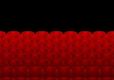 rows of red theatre seats photo