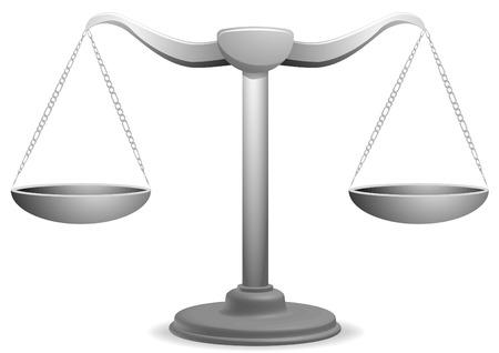 weighing scales: illustrazione vettoriale di un equilibrio