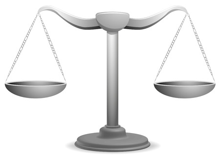 tribunal: vector illustration of  a balance