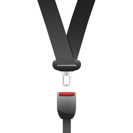 seatbelt: a seat belt used in cars Illustration