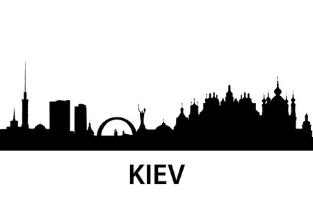 silhouette of Kiev, Ukraine