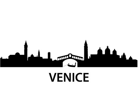 silhouette of Venice, Italy Stock Vector - 8329446