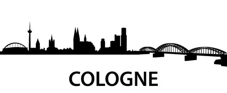 detailed silhouette of Cologne, Germany Vector