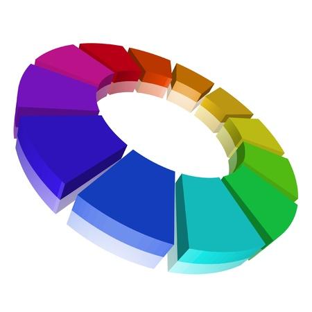 circulos concentricos: Ilustraci�n de un c�rculo crom�tico Foto de archivo