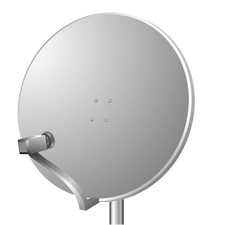 communicatie: vector illustratie van een satelliet schotel