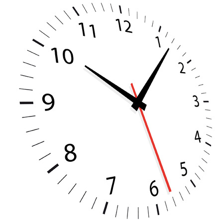 time of the day: vector illustration of a clock