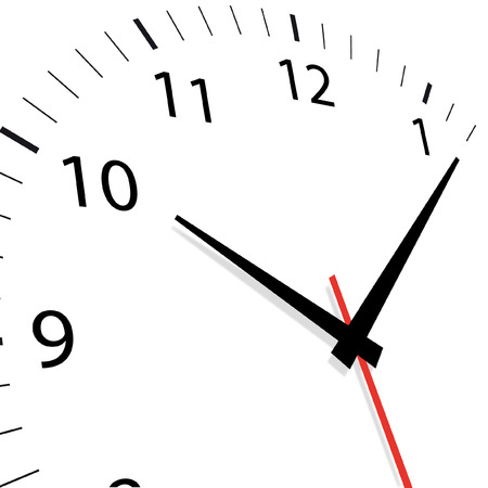 close up face: vector illustration of a clock