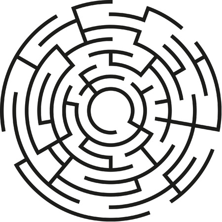 labyrinth: abstract vector maze