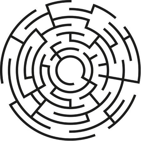 abstracte vector doolhof Vector Illustratie