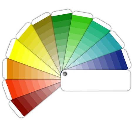 illustration of a color guide with shades illustration