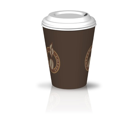 illustration of a coffee to go Stock Illustration - 8625243