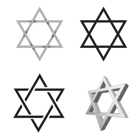 vector illustrations of the shield of david Stock Vector - 8625291
