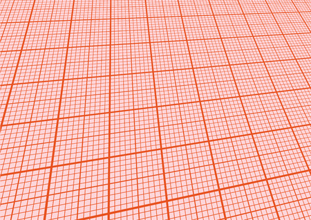 illustration of a sheet of graph paper with perspective Vector