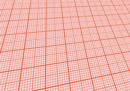 hoja cuadriculada: Ilustraci�n de una hoja de papel milimetrado con perspectiva