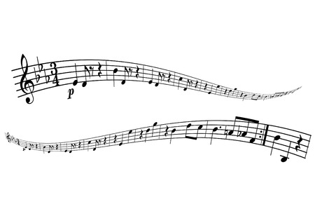 illustratie van melodie strips