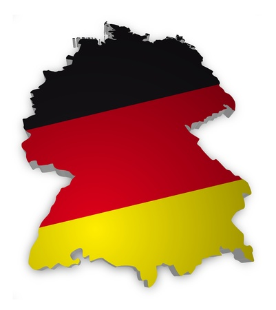 3D outline of Germany with flag photo