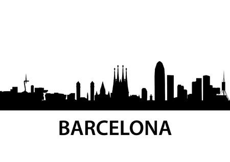 illustrazione dettagliata di Barcellona, Spagna Vettoriali