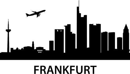 frankfurt: detailed illustration of Frankfurt am Main,Germany