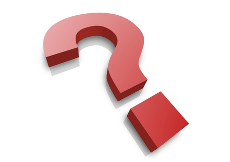 question answer: illustration of a question mark Stock Photo