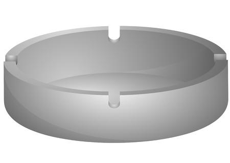 Illustration der ein leeres Aschenbecher Vektorgrafik