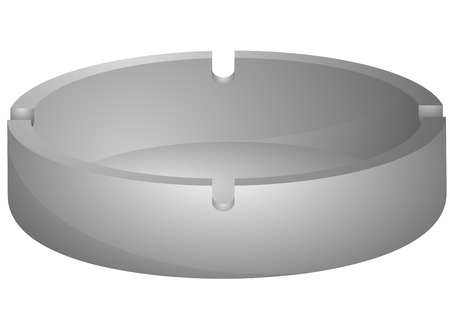illustration of an empty ashtray Vector
