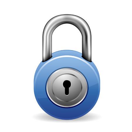 afbeelding van een blauwe sluis met sleutelgat Vector Illustratie