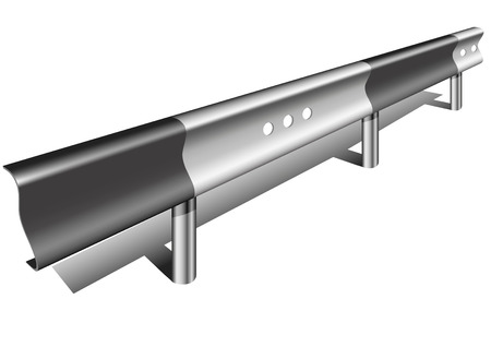 barrier: detailed illustration of a guardrail