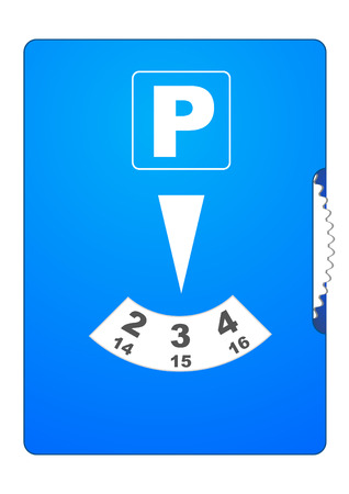cars parking: Illustration of a blue parking disc Illustration