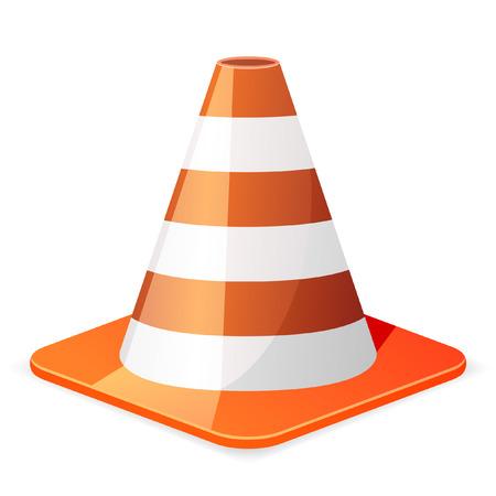 illustration of a orange traffic cone Vector