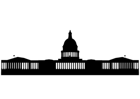 state government: Illustration of the U.S. Capitol, Washington D.C.