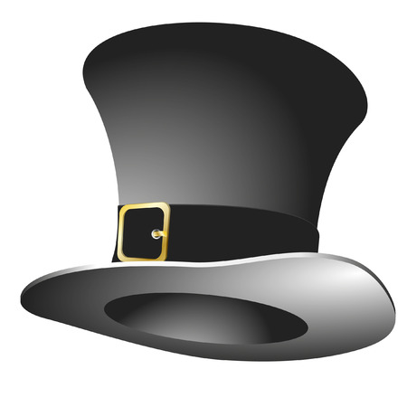 stovepipe: illustration of a stovepipe hat Illustration