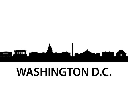 downtown capitol: detailed silhouette of  Washington D.C.