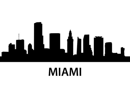 skyscrapers: detailed illustration of Miami, Florida Illustration
